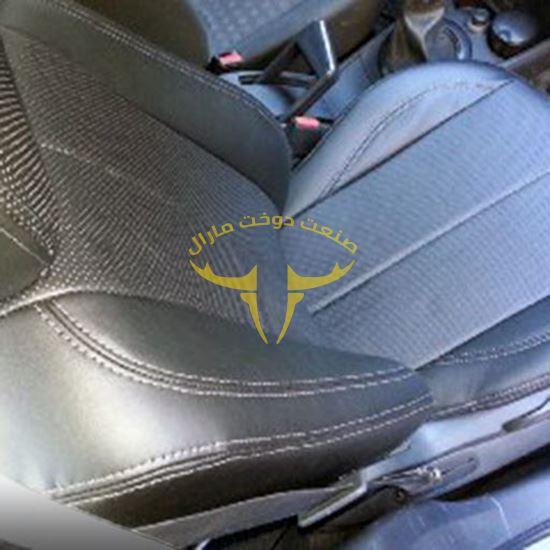 روکش صندلی چرم مشکی مگان 1600