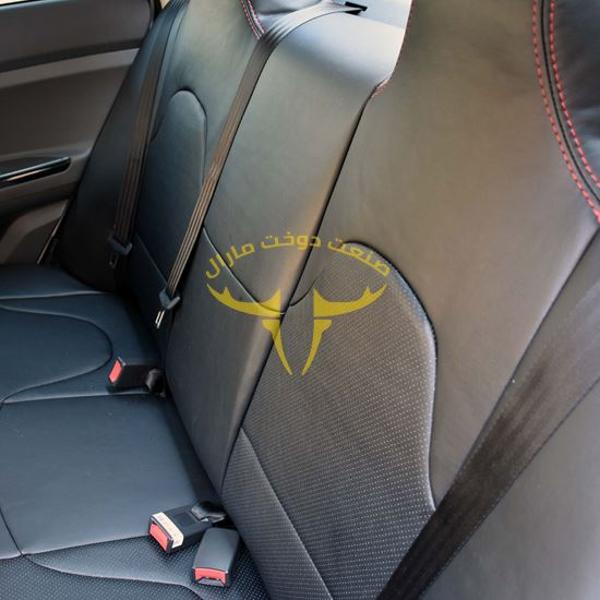 روکش صندلی چرم مشکی دوخت قرمز جک جی 4 J