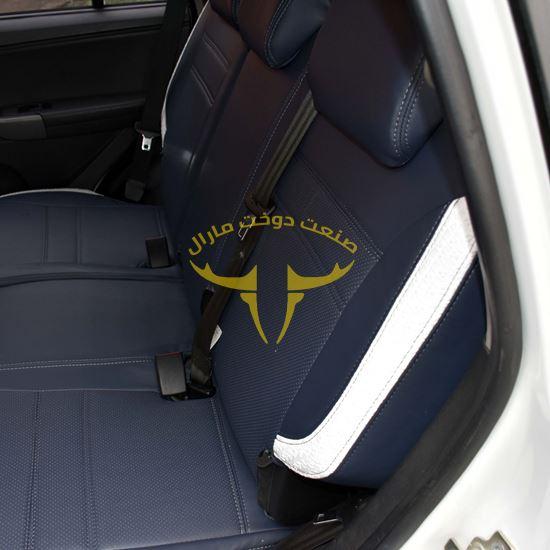 روکش صندلی چرم طوسی سفید X33 NEW