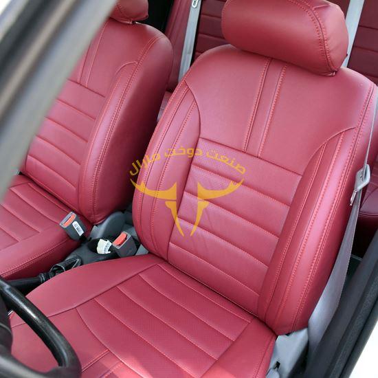 روکش صندلی چرم قرمز لکسوسی ساینا