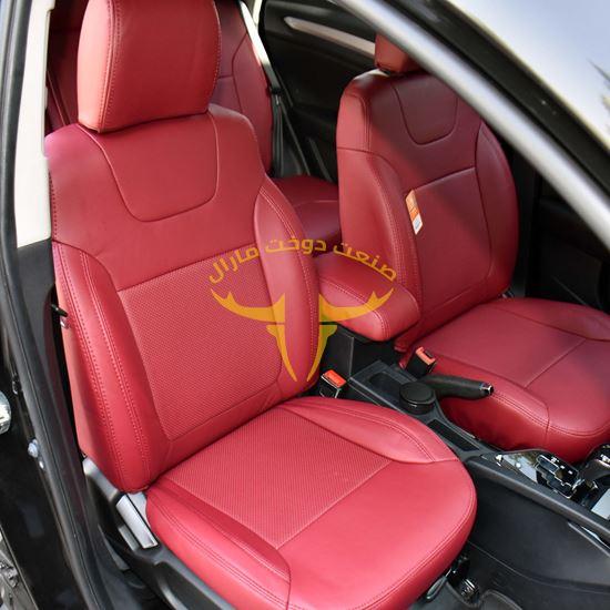 روکش صندلی چرم قرمز لکسوسی جک اس S3