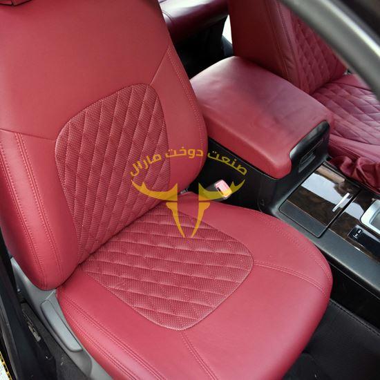 روکش صندلی چرم قرمز لکسوسی لندکروز